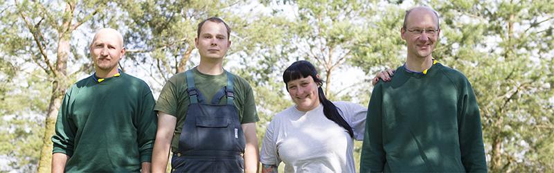 Landschaftspflege Mitarbeiter und Miarbeiterinnen